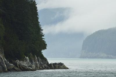 Fog Lifts over the Rocky Shores of the Inian Islands