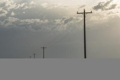 Power Lines Cross the Sagebrush Flats on the Eastern Navajo Nation Near Shiprock, New Mexico