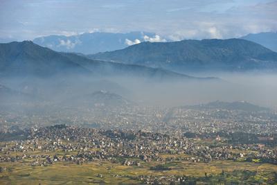 Kathmandu Valley Seen from the Top of Hatiban Resort
