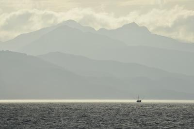 A Small Commercial Fishing Boat in the Waters Off of Catherine Island