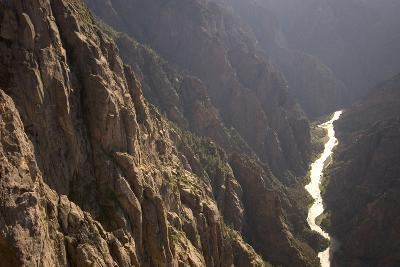 The Gunnison River Winds Through a Canyon from the South Rim of Black Canyon