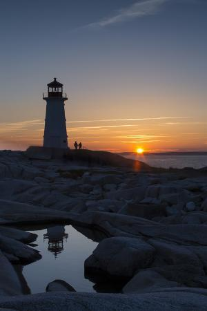 Peggy's Point Lighthouse at Sunset