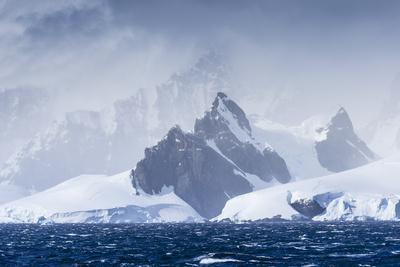 Icebergs and Mountains Near Cuverville Island, Antarctica