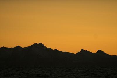 Sunset over the Lofoten Archipelago