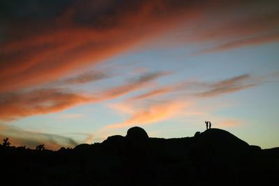 Camera Phone Photographers at Sunset in Joshua Tree National Park