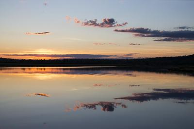 Water Mimics Sky as the Day Fades into Evening