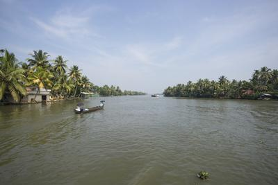 A Wide Angle View of the Backwaters in Southern India