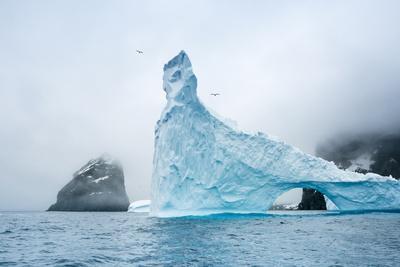 A Sculpted Iceberg Near Elephant Island, Antarctica