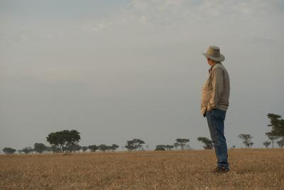 A Man Admires the Scenery in Queen Elizabeth National Park