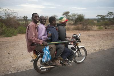 A Motorcycle Taxi Near the Town of Kasese in Uganda