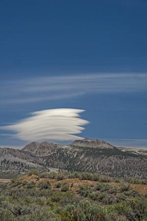 A Lenticular Cloud Hovers over the Mono Inyo Craters