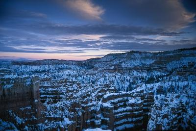 A Few of Snow Covered Cliffs from Sunset Point in Bryce National Park
