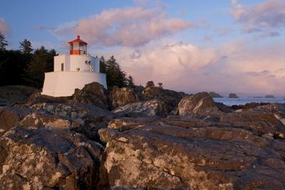 The Amphitrite Lighthouse on the Wild Pacific Trail at Sunset