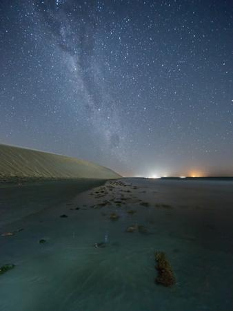 The Stars and Milky Way over the Dunes in Jericoacoara, Brazil