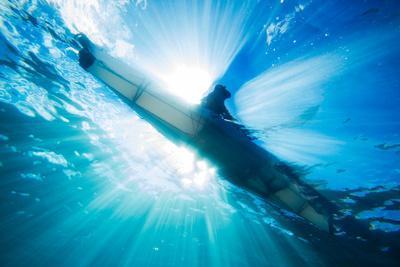 A Sea Kayaker from Below