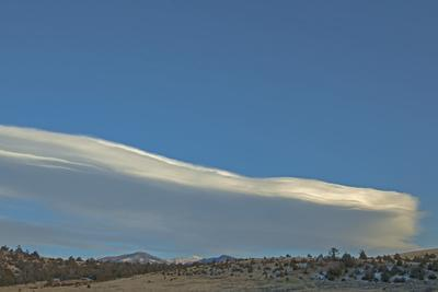 Lenticular Clouds Hover over the Gallatin Valley, North of Bozeman
