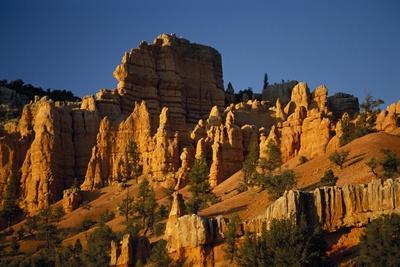 Exposed Orange Red Limestone in Dixie National Forest Near Bryce Canyon