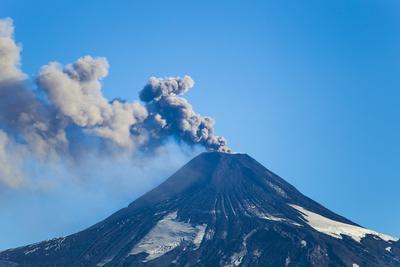 A Small Eruption of the Villarrica Volcano