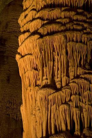 A Massive Column, the Giant Dome, Within the Big Room in Carlsbad Caverns National Park, New Mexico