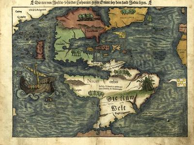 Map of the Americas, 1550