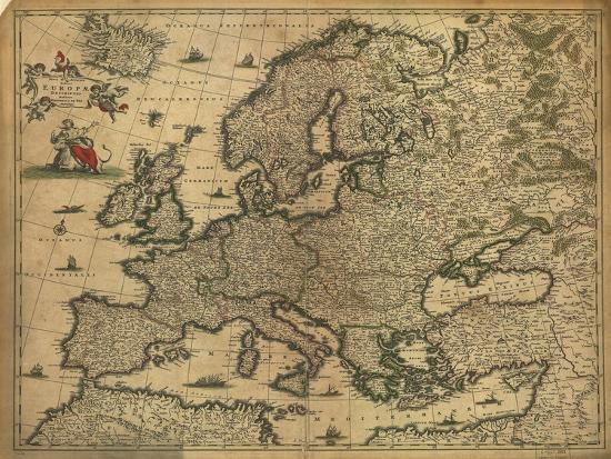 Map Of Europe 1700 Giclee Print By Science Source At Allposters Com
