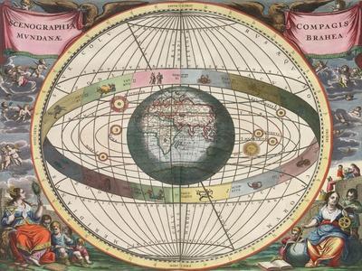 The Universe of Brahe, Harmonia Macrocosmica, 1660