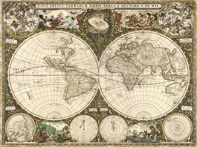 Map of the World, 1660
