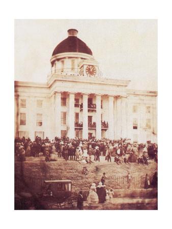 Davis Sworn In, President of the Confederacy, 1861