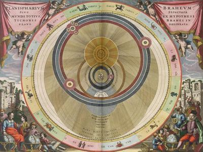 The Planisphere of Brahe, Harmonia Macrocosmica, 1660