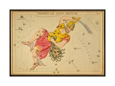 Perseus and Caput Medusae Constellations, 1825