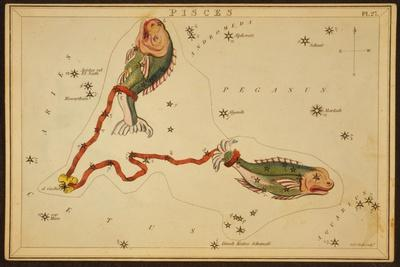 Pisces Constellation, Zodiac Sign, 1825