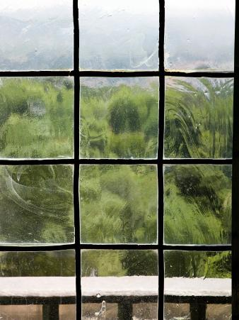 View Through Old Window Panes