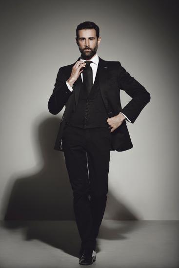 Male Model Posing Photographic Print Luis Beltran