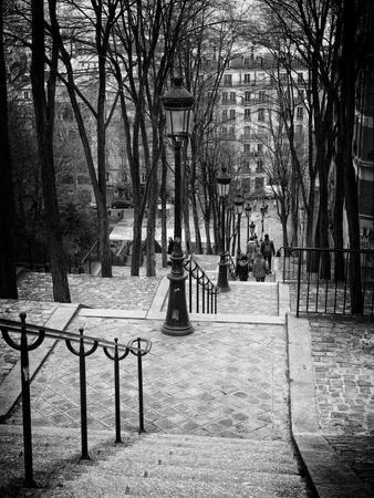 Staircase Montmartre - Paris - France
