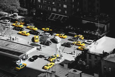Taxi Cabs - Yellow Cabs - Petrol Station - Manhattan - New York City - United States