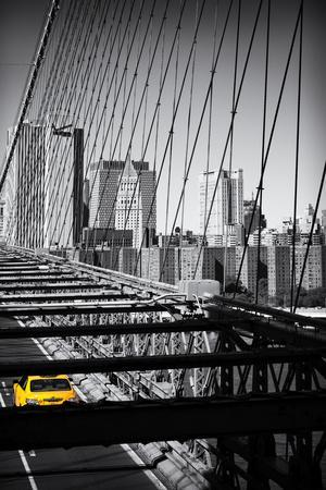 Taxi Cabs - Brooklyn Bridge - Yellow Cabs - Manhattan - New York City - United States