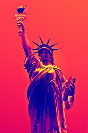 Statue of Liberty - Décorative Art - Red Vintage - NYC - United States