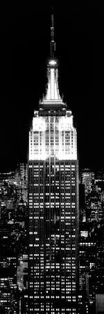 Top of the Empire State Building and One World Trade Center by Night, Manhattan, New York City