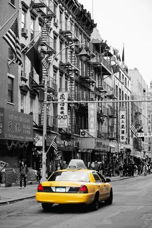 Taxi Cabs - Chinatown - Yellow Cabs - Manhattan - New York City - United States