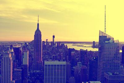 View of city - Sunset - Manhattan - New York City - United States