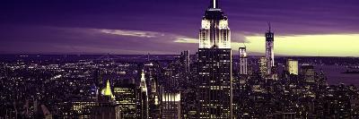 Panoramic Landscape - Empire State Building - Sunset - Manhattan - New York City - United States