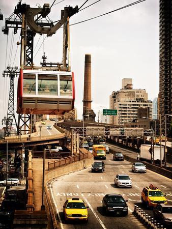 Roosevelt Island Tram and Ed Koch Queensboro Bridge (Queensbridge) Entry View, Manhattan, New York