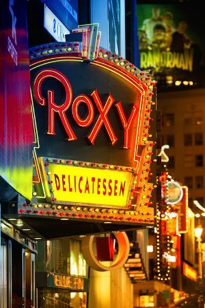 Advertising - Roxy Delicatessen - Times square - Manhattan - New York City - United States