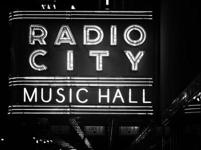 Lanes Entrance to the Radio City Music Hall by Night, Manhattan, Times Square, New York, Classic