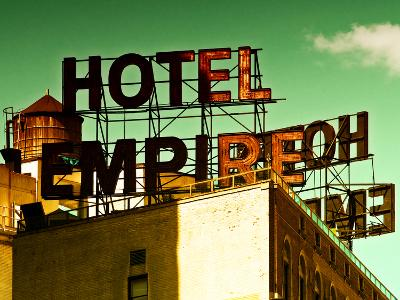 Architecture and Buildings, Rooftop, Hotel Empire, Upper West Side of Manhattan, Broadway, New York
