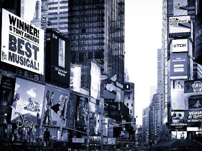 Landscape of Times Square, Advertising Views, Manhattan, NYC, US, USA, Blue Light Photography