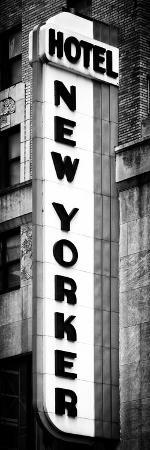 Hotel New Yorker, Signboard, Manhattan, New York, Vertical Panoramic View