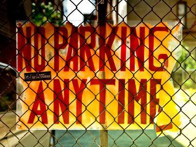 No Parking Sign, Brooklyn, New York City, United States, Sunset Colors