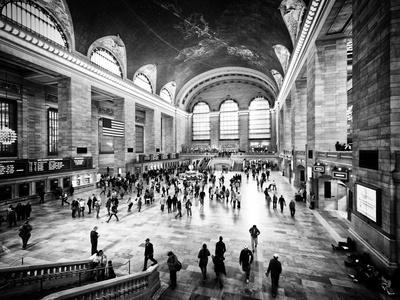 Lifestyle Instant, Grand Central Terminal, Black and White Photography Vintage, Manhattan, NYC, US