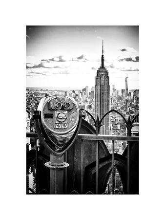 Telescope on the Obervatoire Deck, Top on the Rock at Rockefeller Center, Manhattan, New York